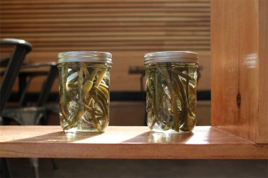 garlic ends in jar