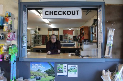Patricia at checkout